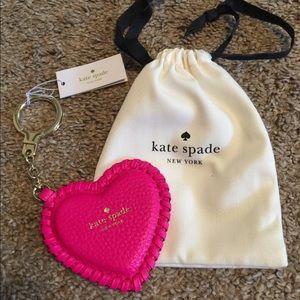 Kate Spade-Pink Heart Keychain/Purse Decoration